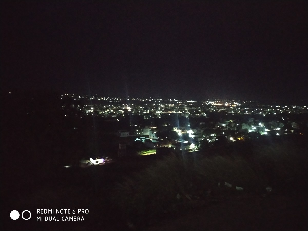 Nighttime View of Kovilpatti From Kathiresan Hill