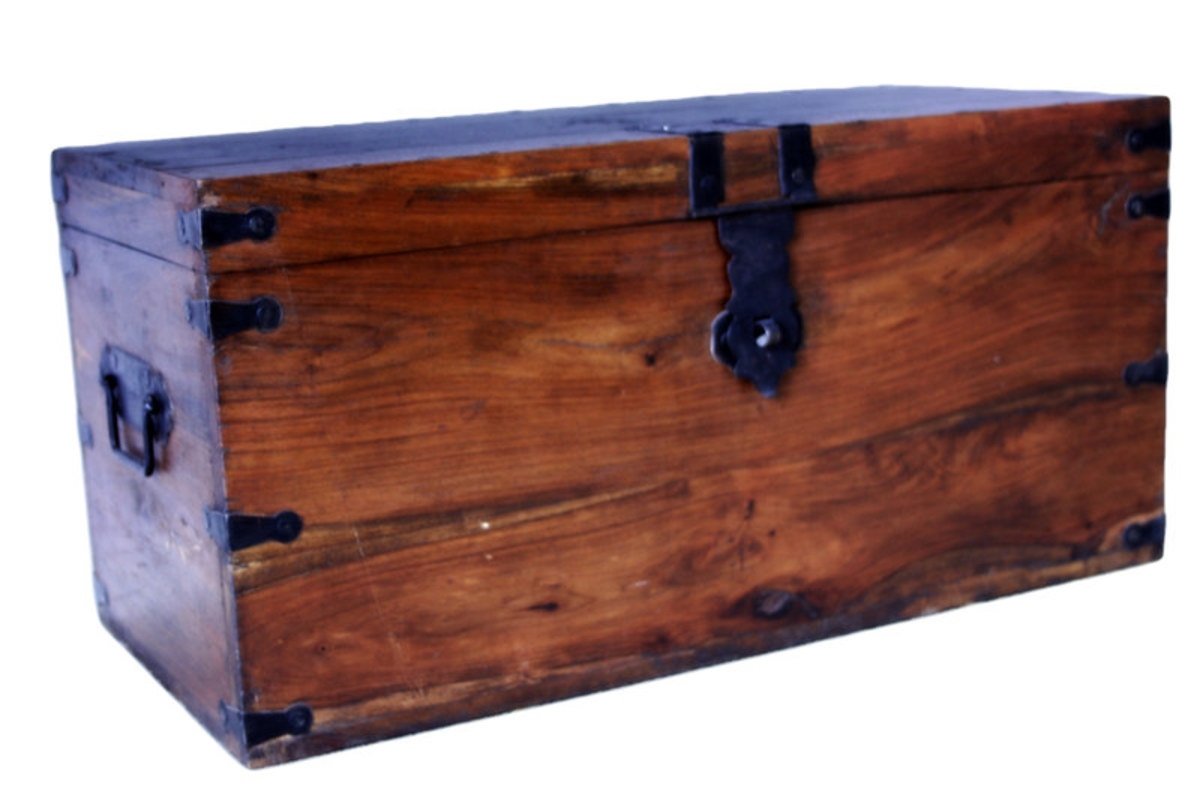 Wooden Chest by Brenda Clarke