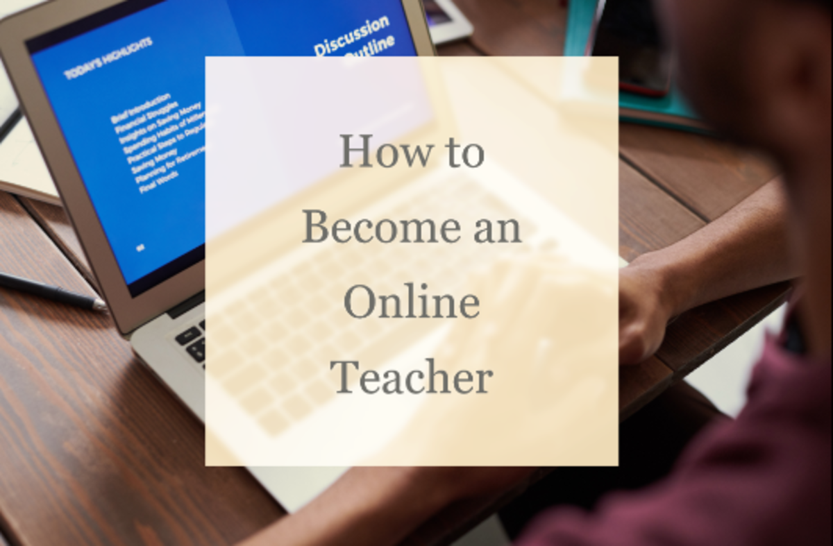 Being an online teacher is becoming more and more popular.