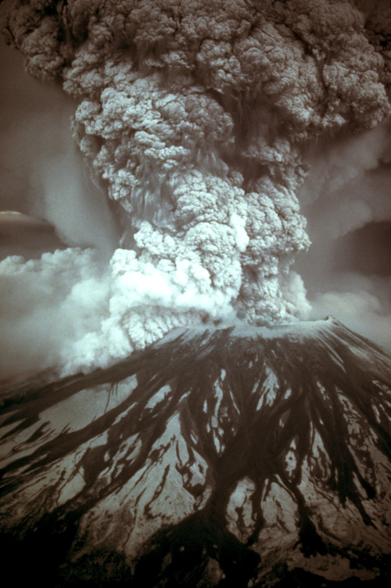 Mt. Ste.Helens is the most active volcano in the continental US. Its historic eruption in 1980, killed dozens but had almost no effect on the world's climate.