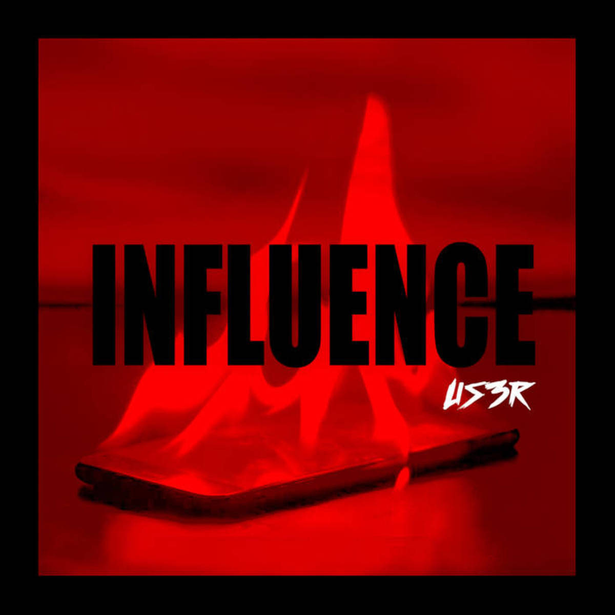"Album cover for US3r's ""Influence"""