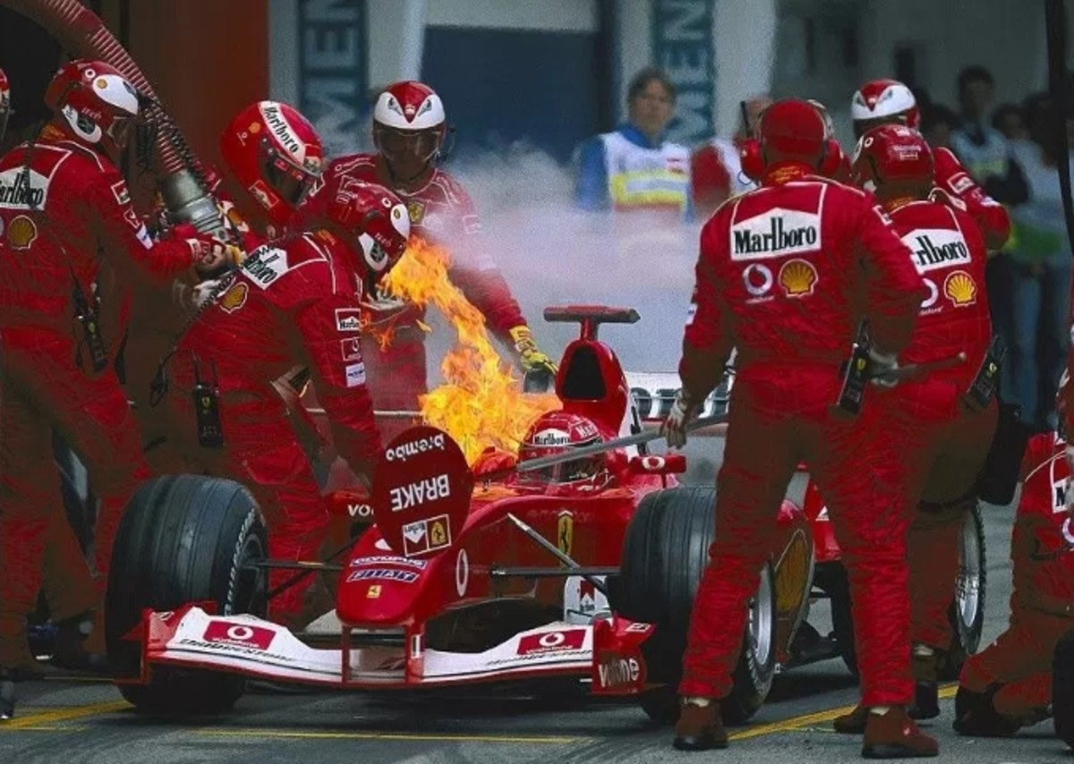 The 2003 Austrian GP: Michael Schumacher's 67th Win in a Burning Car