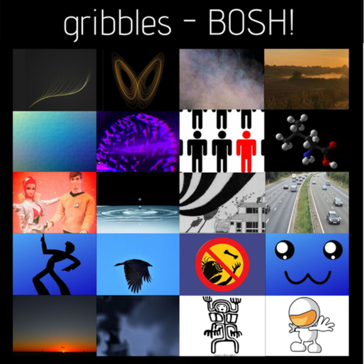 "Album cover for Gribbles' ""Bosh!"""