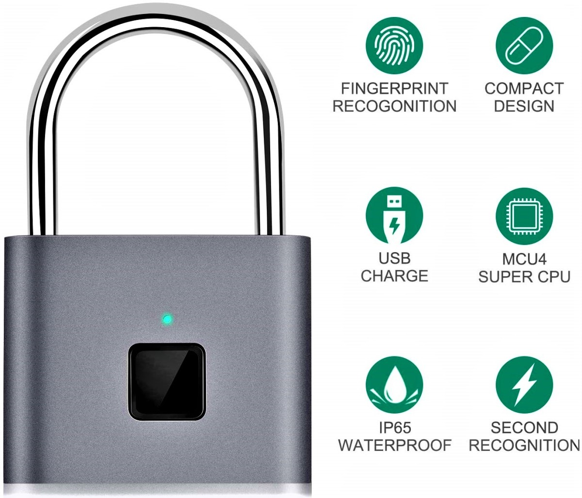 Taococo Fingerprint Smart Keyless Padlock