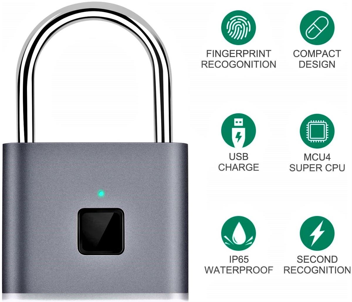 Taococo Fingerprint Smart Keyless Padlock