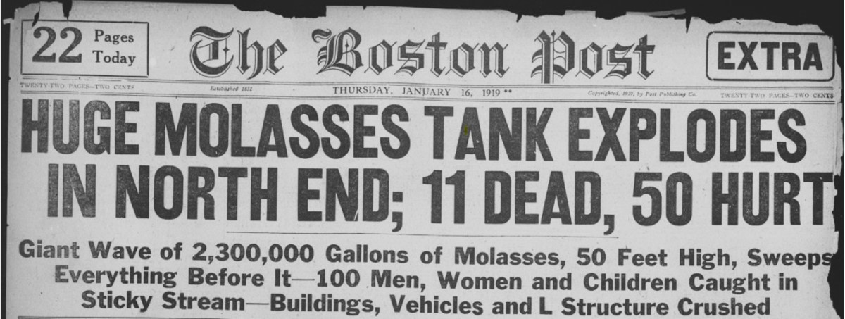 The Boston Molasses Flood of 1919