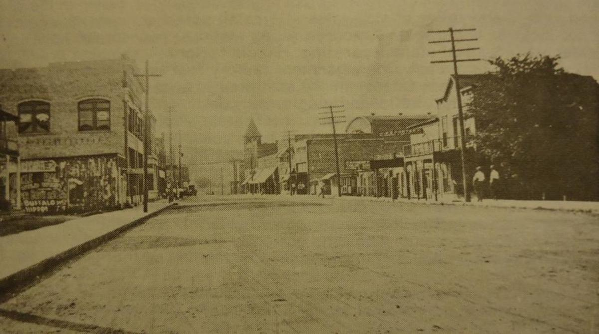 Downtown Poteau, around 1909