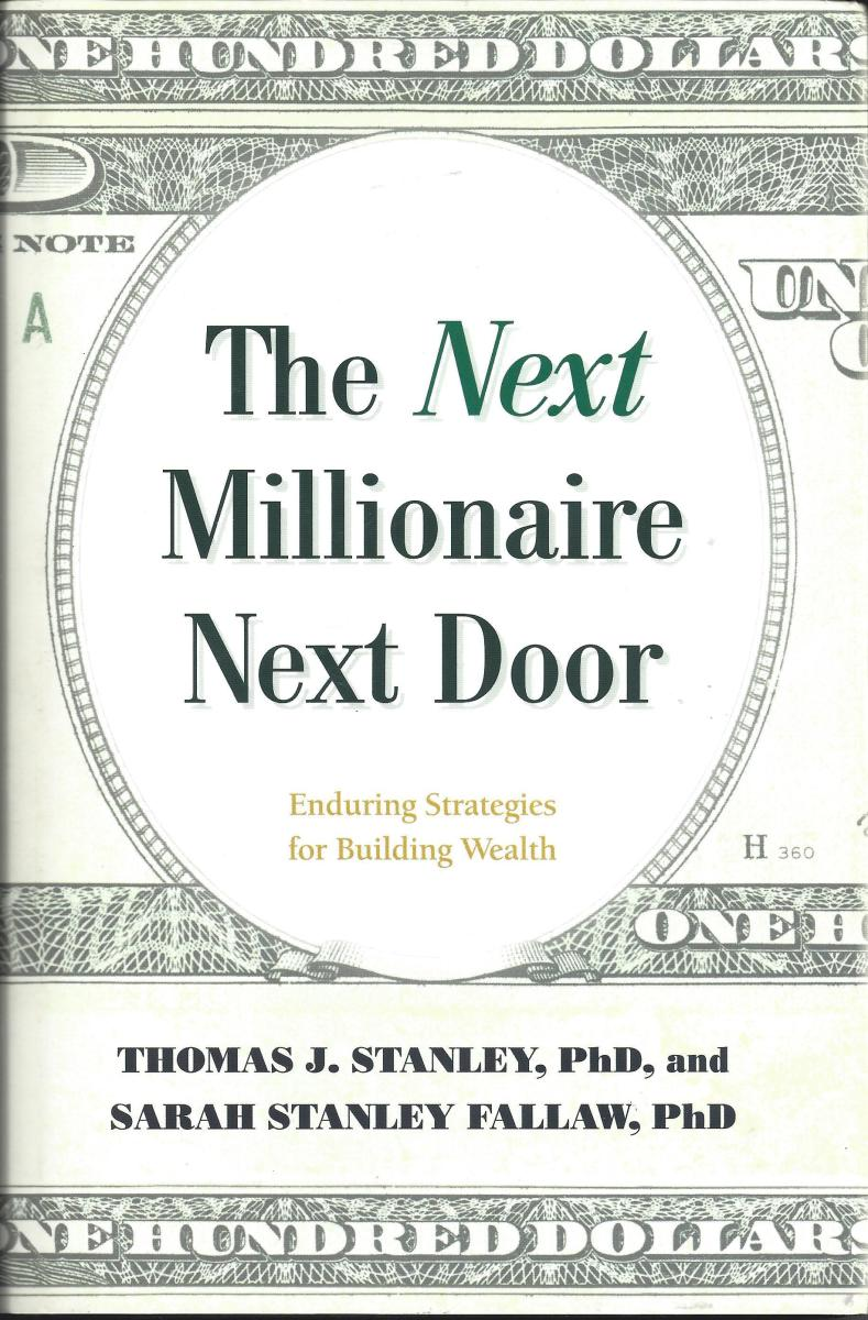 """Scanned copy of the book cover for """"The Next Millionaire Next Door"""""""
