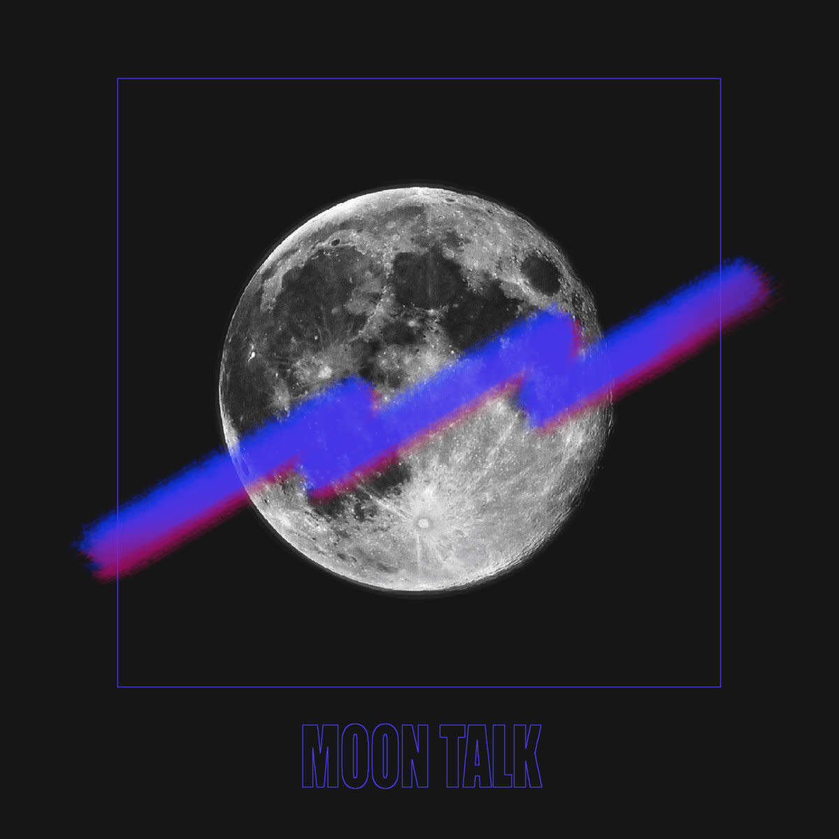 "Cover photo for Moon Talk's new EP ""Moon Talk"""