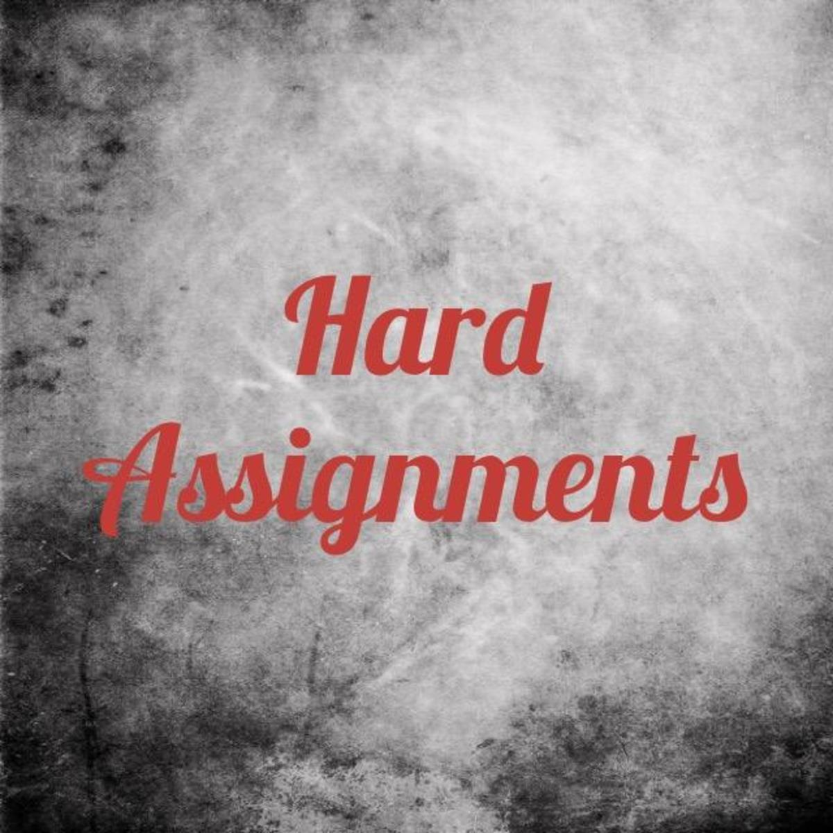Hard Assignments God Gave People in the Bible