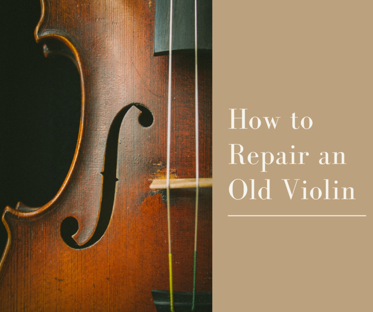 Explore this amateur's repair of an old damaged violin.