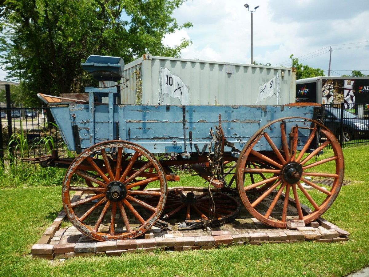 Old wagon on display at the Buffalo Soldiers National Museum in Houston