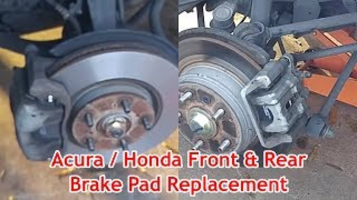 Acura or Honda Front and Rear Brake Pad Replacement (With Video)