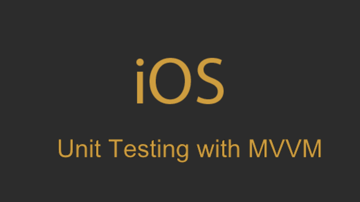 Unit Testing With MVVM in iOS