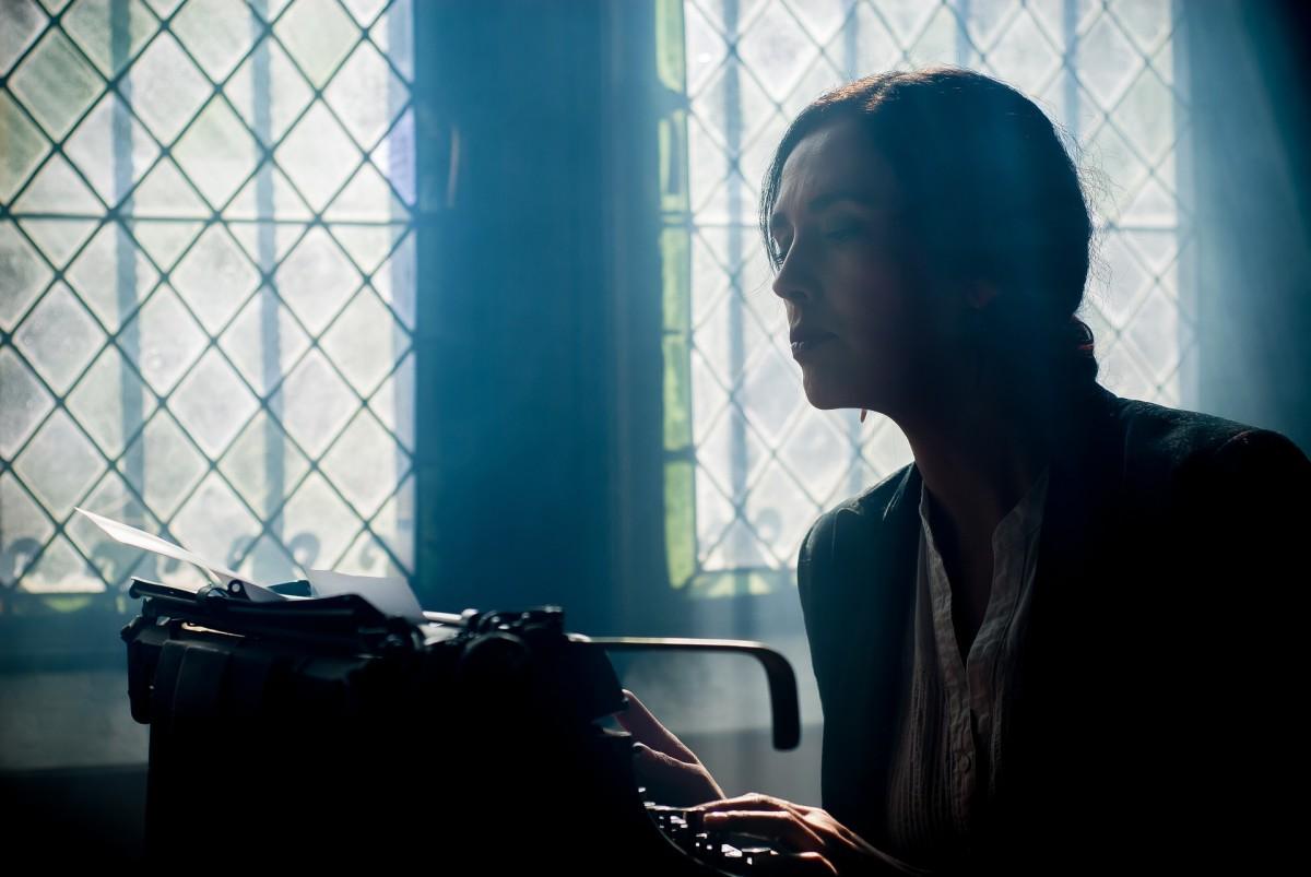 A writer, hard at work