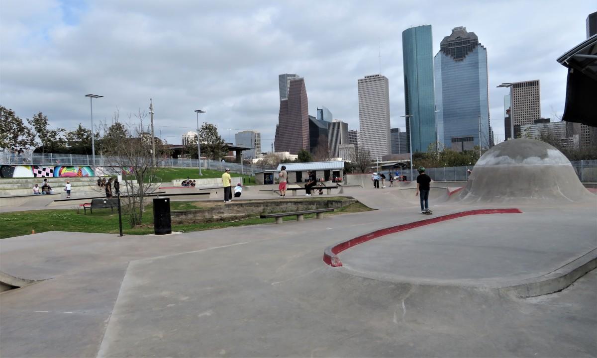 Lee and Joe Jamail Skatepark in Houston