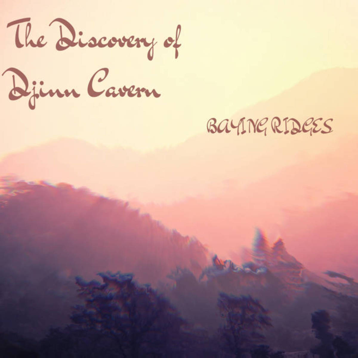 "Single artwork for Baying Ridging's ""The Discovery of Djinn Cavern"""