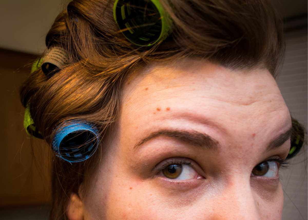 Use large rollers to get waves in your hair.