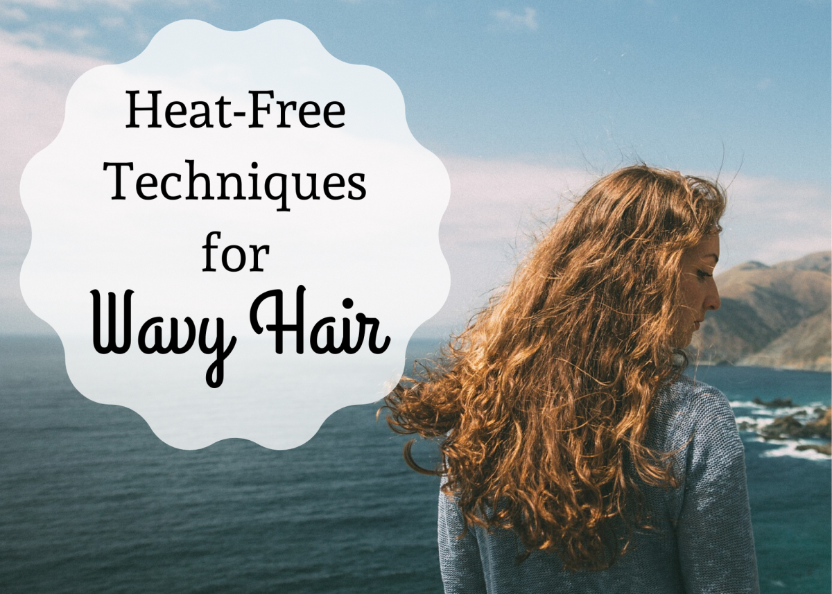 Try braiding, pipe cleaners, or curlers to put a wave in your hair without heat or harsh chemicals.