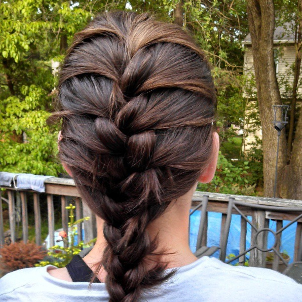 Put your slightly damp hair into one or more braids to get a wavy look when it dries.