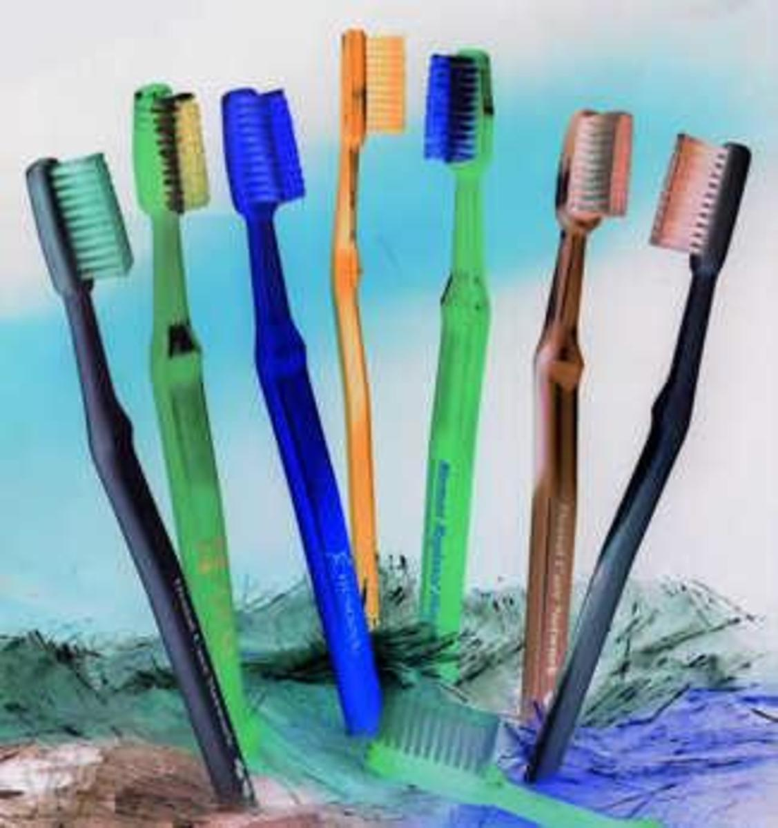Buy several toothbrushes for each member of the family to store