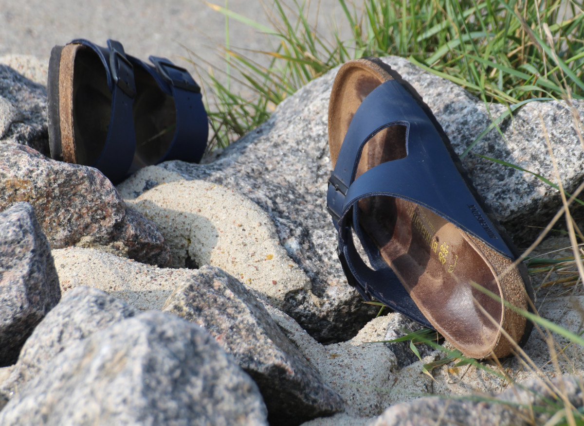 Birkenstock Sandals on Rocks, CC0 Public Domain Image
