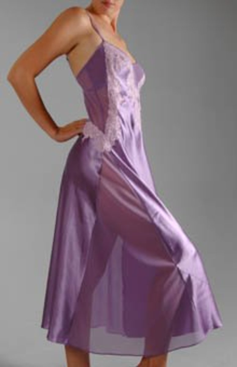 Nylon Nightgowns Feminine Sleepwear For Men