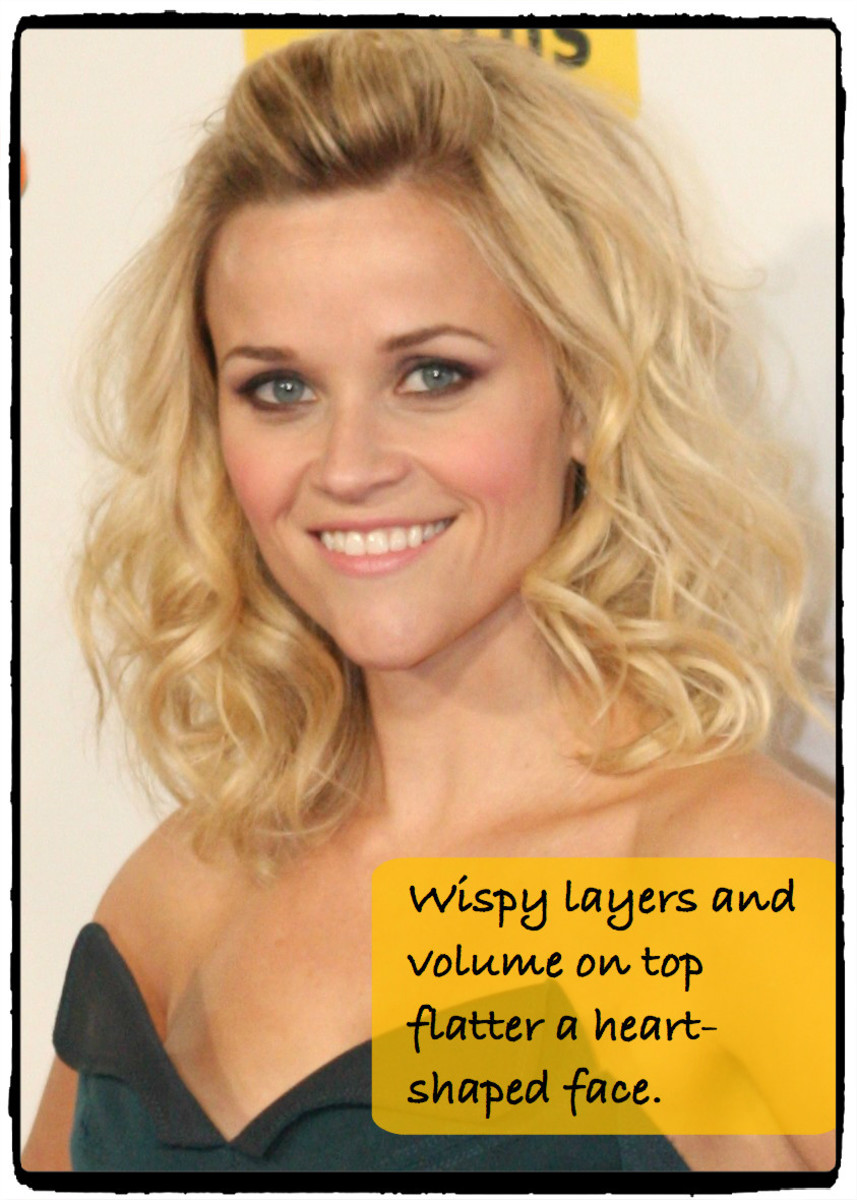 Reese Witherspoon's famous heart-shaped face looks amazing with wispy curls that build volume and curl out, not in.