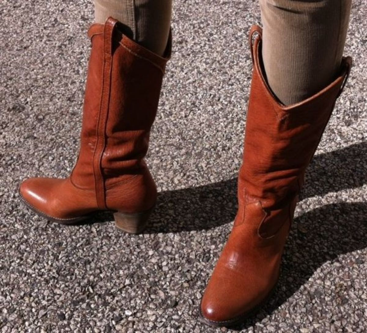 My Frye Taylor cowboy-style boots.