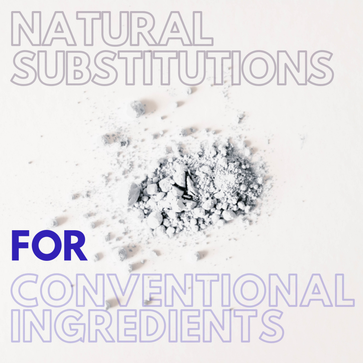 Deodorant and antiperspirant substitutions for conventional ingredients.