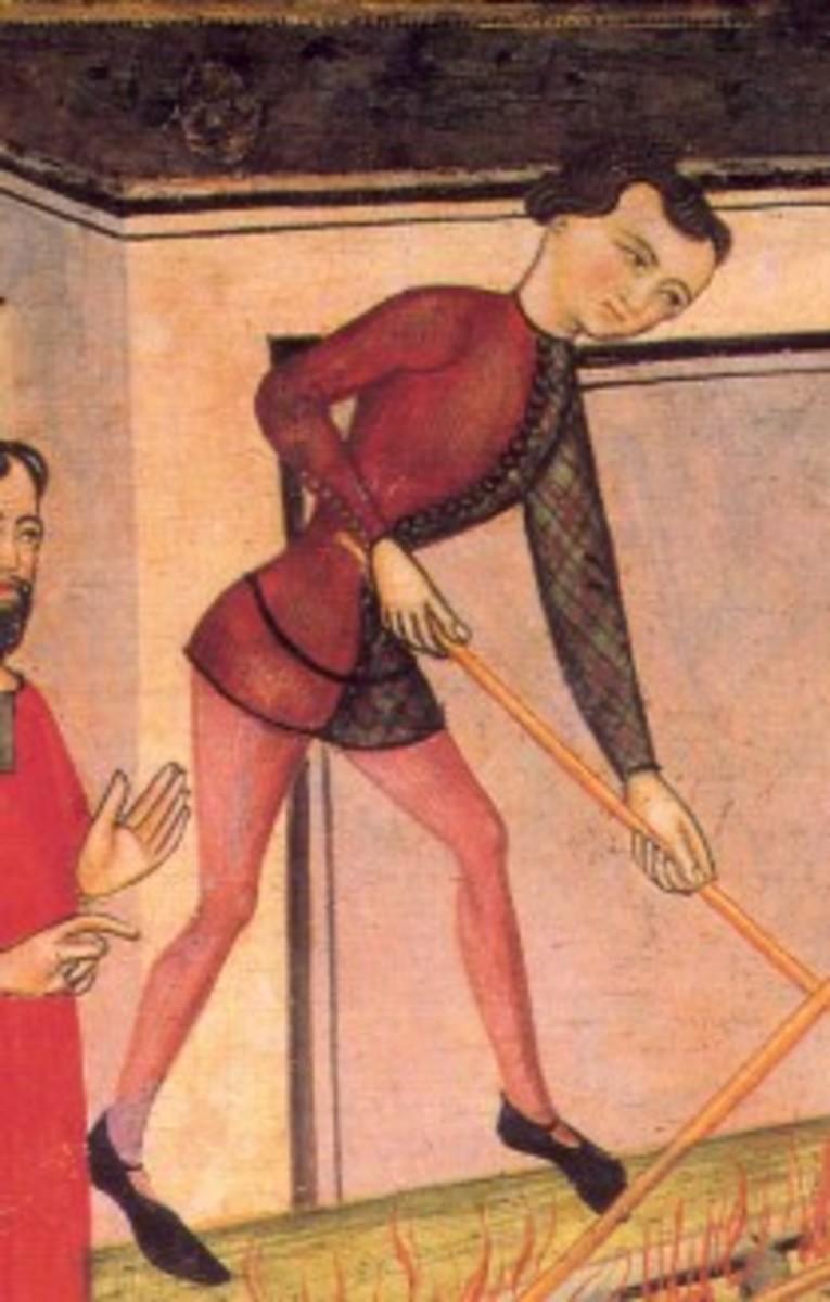 Middle Ages - Parti-colored Cotehardie