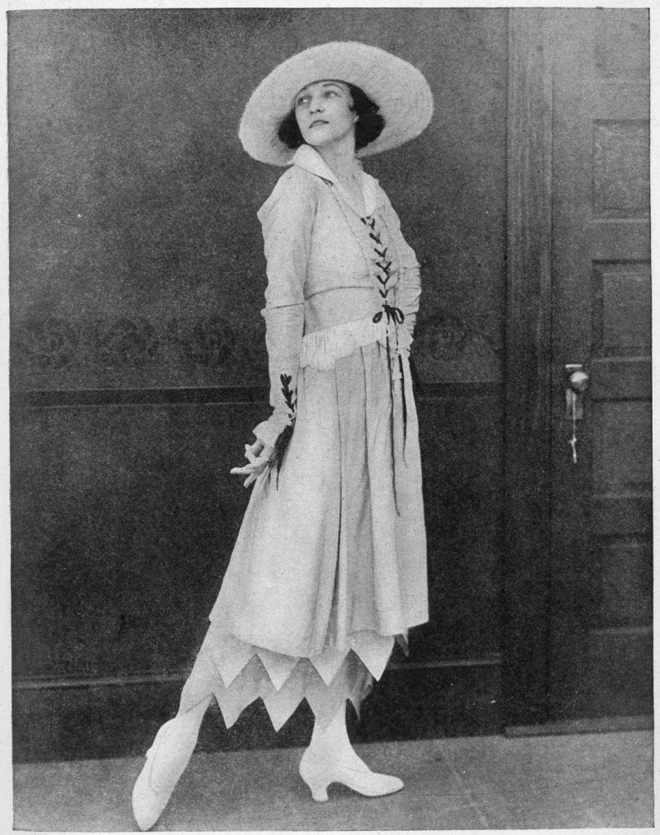 Irene Castle in a summer dress.