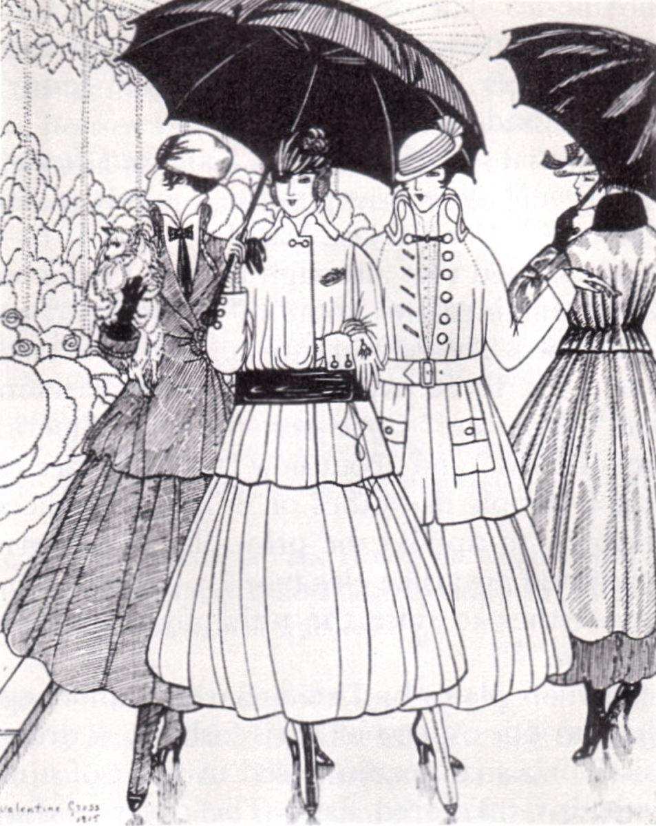 1915 fashion plate from La Gazette du Bon Ton.