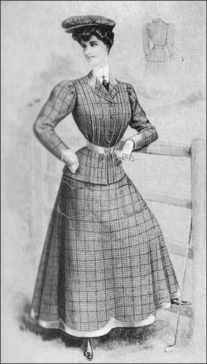 Edwardian Golfing Costume with Tailored Jacket