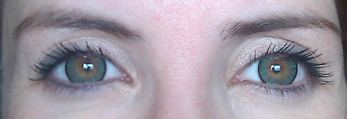 The black ring around the outside, called a limbal ring, makes irises look bigger and whites look whiter.