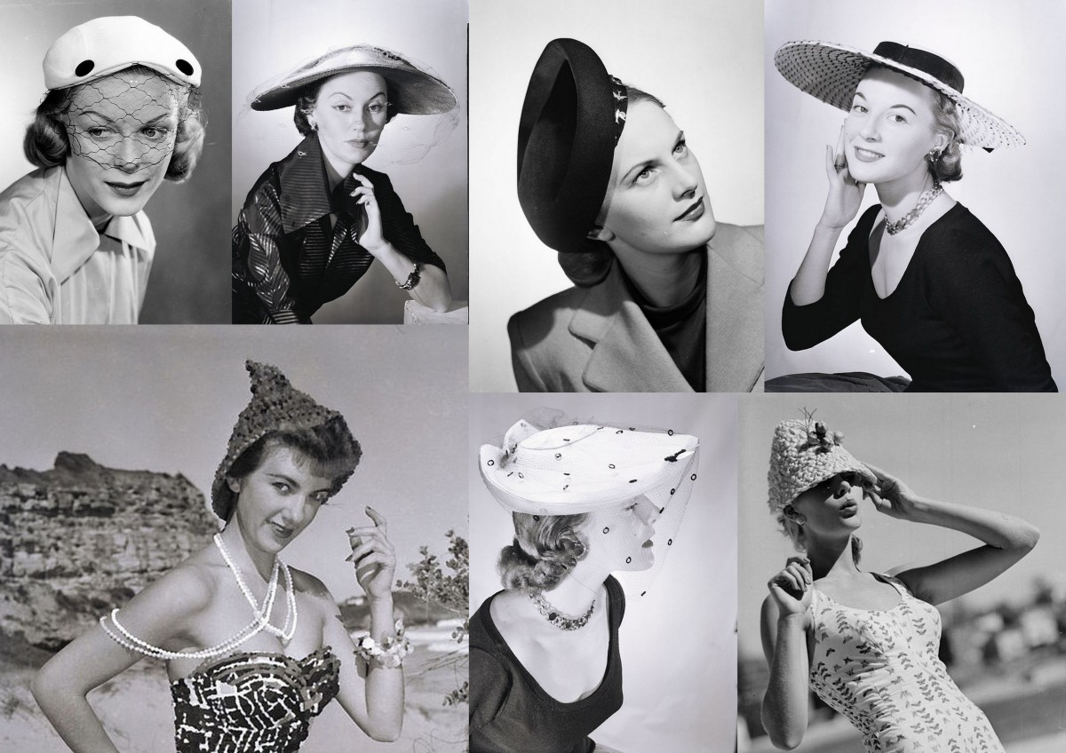 Millinery of the 1950s