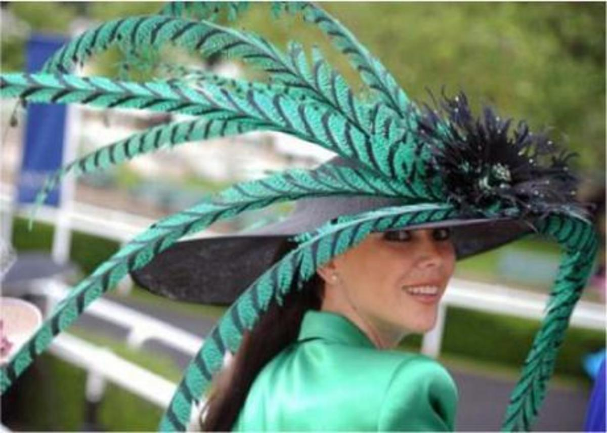 Colorful feathers at Royal Ascot.