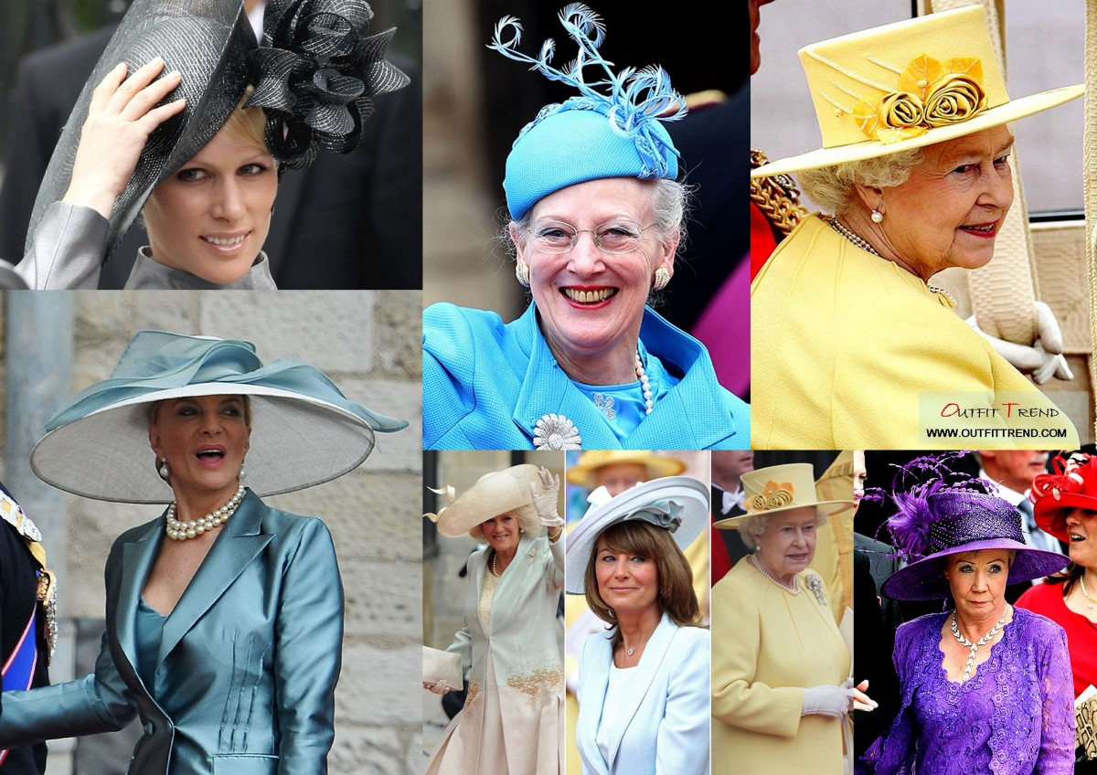Hats on display at the wedding of Prince William and Kate Middleton.