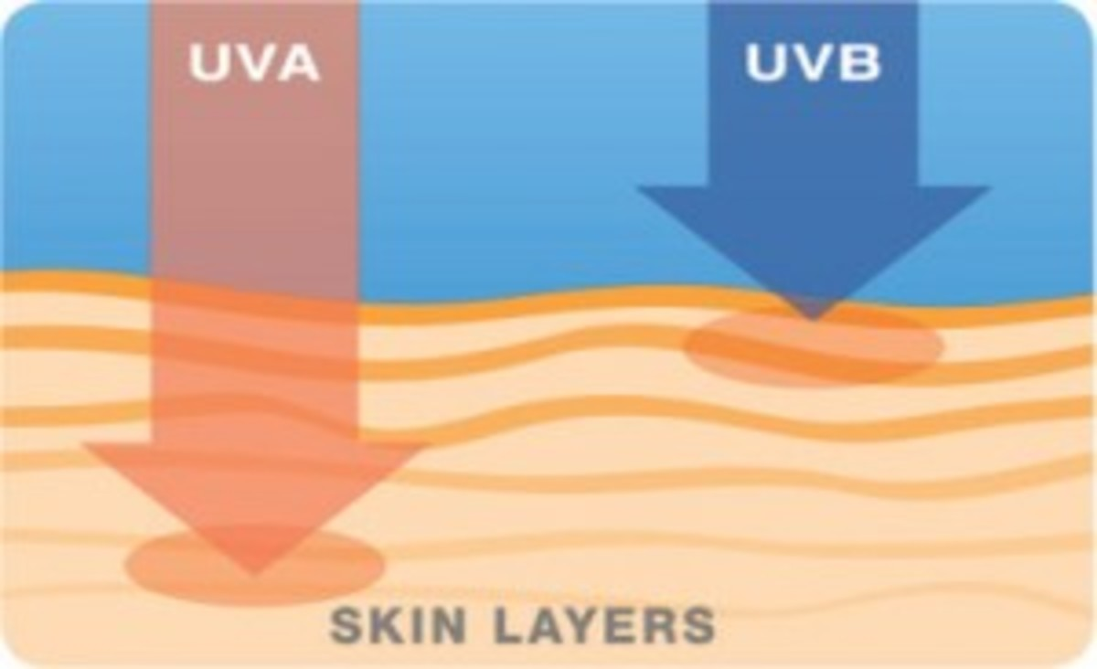 The difference between UVB and UVA rays