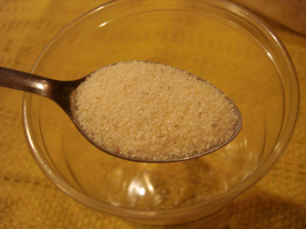 1 spoonful of cornmeal for facial scrub