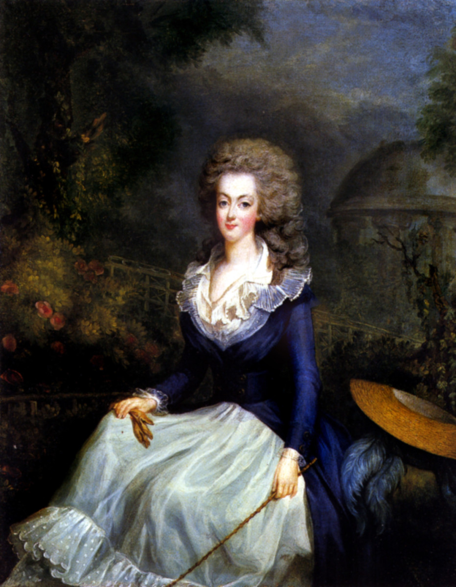 Coiffure a l'enfant - a new hairstyle that accommodated Marie Antoinette's hair troubles.