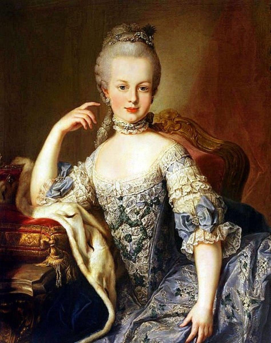 Archduchess Maria Antonia in 1767/8 at Schönbrunn Palace, Vienna