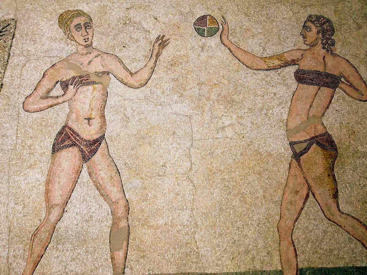 Bikini Girls Circa 4 AD. Anyone for Beach Volleyball?