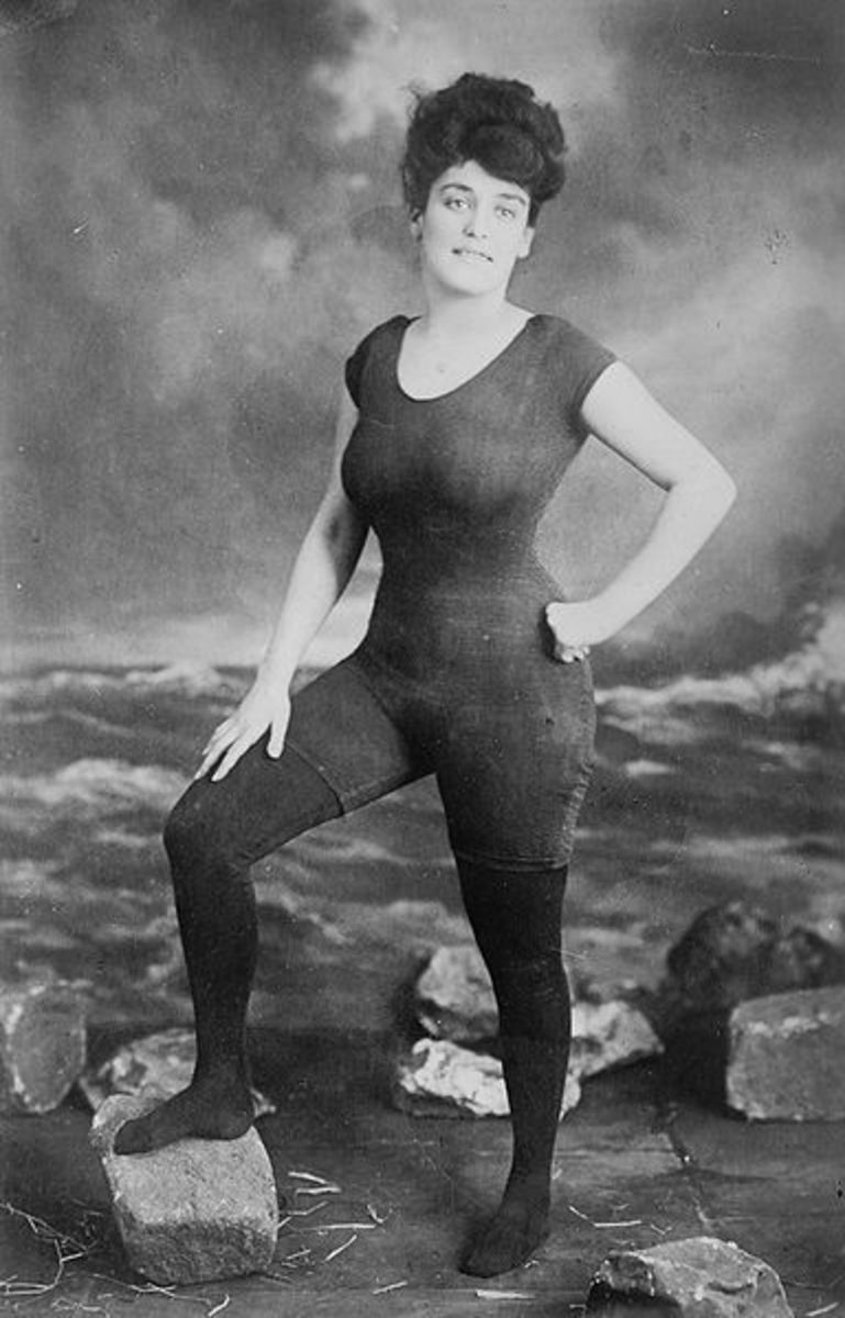Annette Kellerman in her longline suit