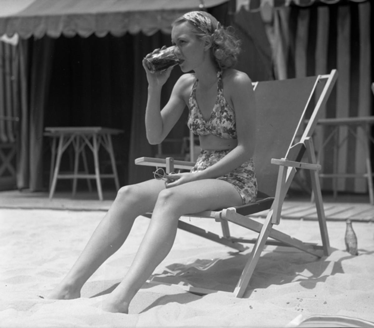 Woman in swimsuit 1935
