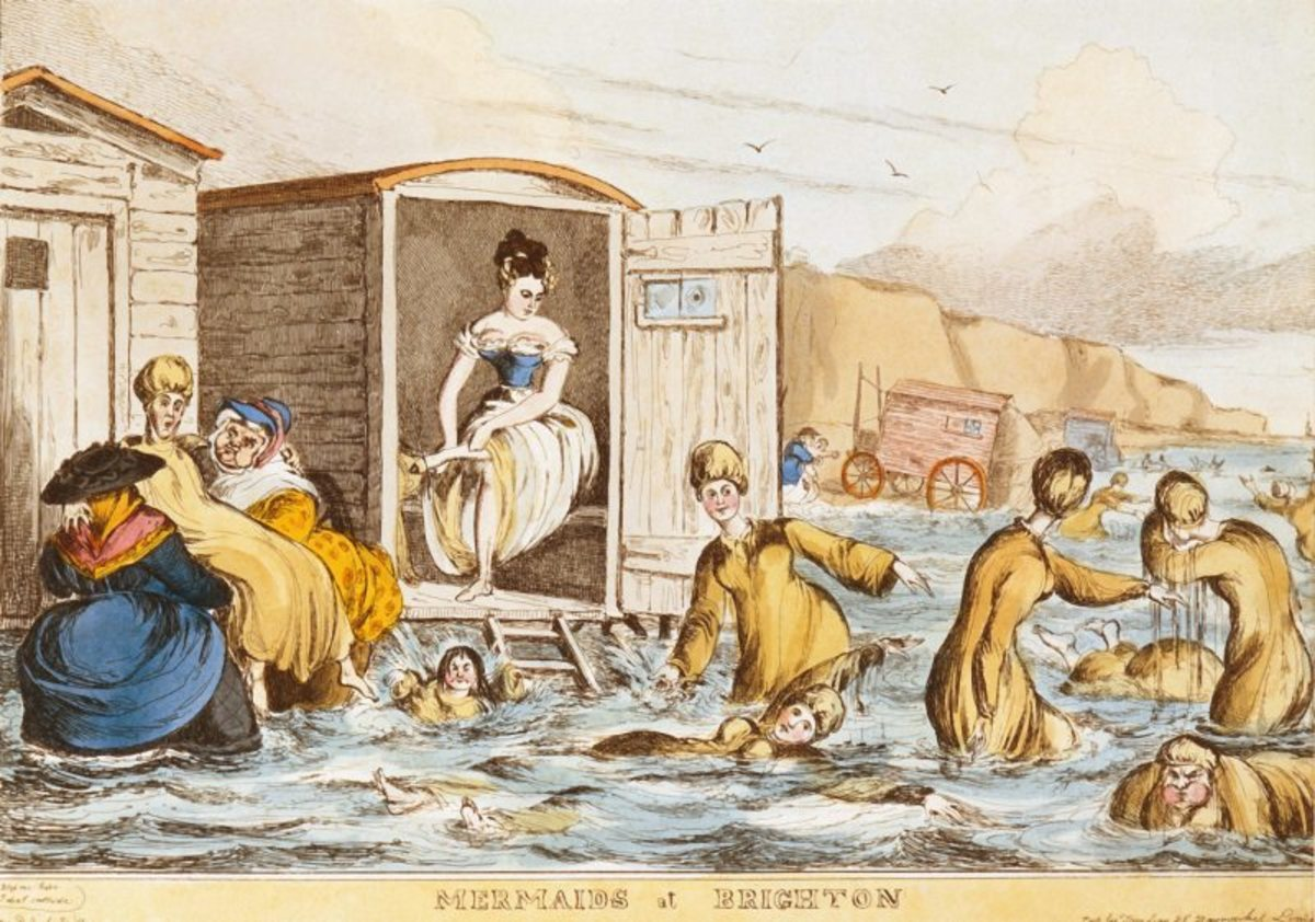 Women & Bathing Machines, Brighton 1829