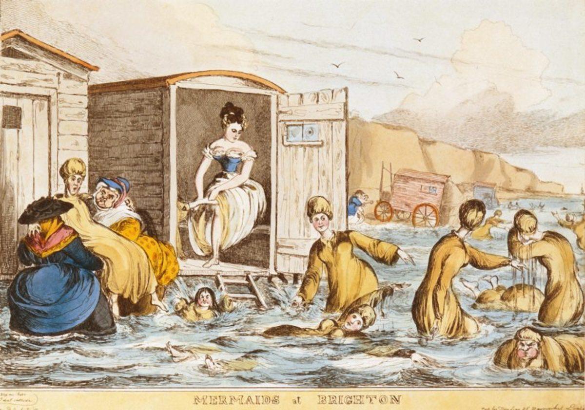 Women & Bathing Machines, Brighton 1829