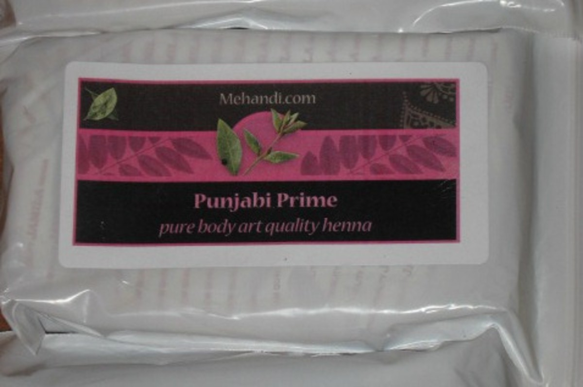 I used 300 grams of Punjabi Prime henna from mehandi.com.