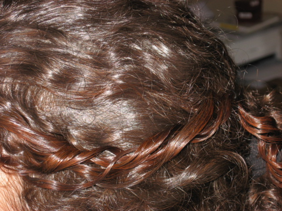 Henna tested on a section of hair