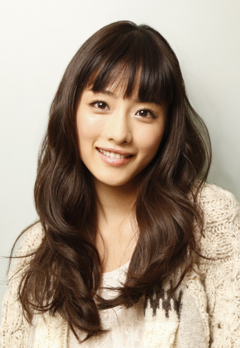 The beautiful Satomi Ishihara with dark brown hair. The best hair colors for Asians.